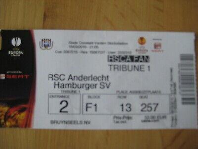 Ticket: Anderlecht - Hambourg UEFA (18-3-10)