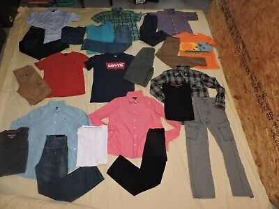 LOT 24 piece Boys Spring Summer Outfits Clothing Size 10 12 10/12