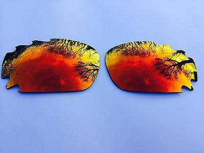 REPLACEMENT FIRE RED MIRROR VENTED OAKLEY JAWBONE & RACING JACKET LENSES