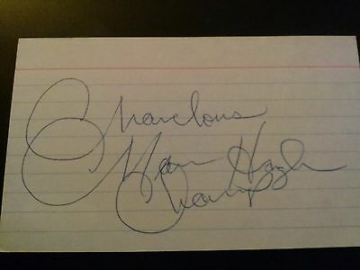 Marvelous Marvin Hagler In Person Auto on Index Card JSA COA
