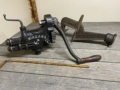 Vintage Niagara Sheet Metal Beader Crimper With Pexto Anvil Horn Stand