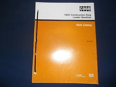 Case 780d Construction King Backhoe Loader Parts Manual Factory Oem