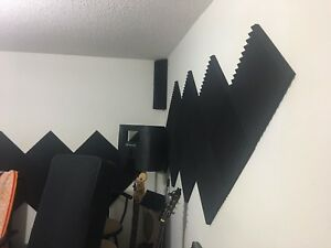 "Acoustic Foam Panel Wedge Studio Soundproofing 12"" X 12"" X 1"""