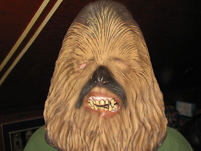 Lucas Films Star Wars Chewbacca Wookie Rubber Costume Cosplay Mask Adult Size