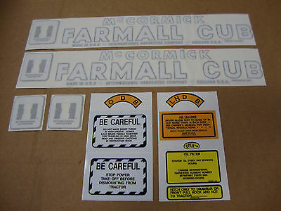 Cub International Mccormick Farmall Tractor Decal Kit New Best Decals Ever.