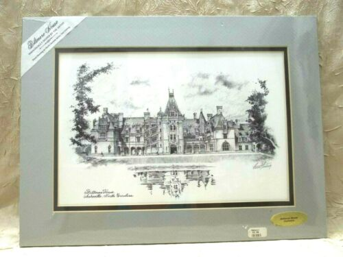 Biltmore Estate  Ashville North Carolina Curt Ludwig Signed Matted Print 12
