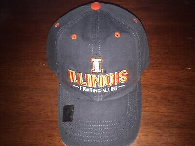 Illinois Fighting Illini Adjustable One Size Hat (Baseball Cap)