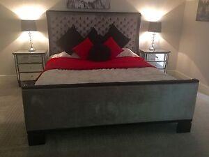 King Size Bed Frame + Bedside Drawers + Mattress Caroline Springs Melton Area Preview