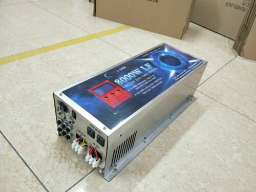 8000W LF SP PURE SINE WAVE POWER INVERTER DC12V/AC220V&110V Battery Charger/LCD