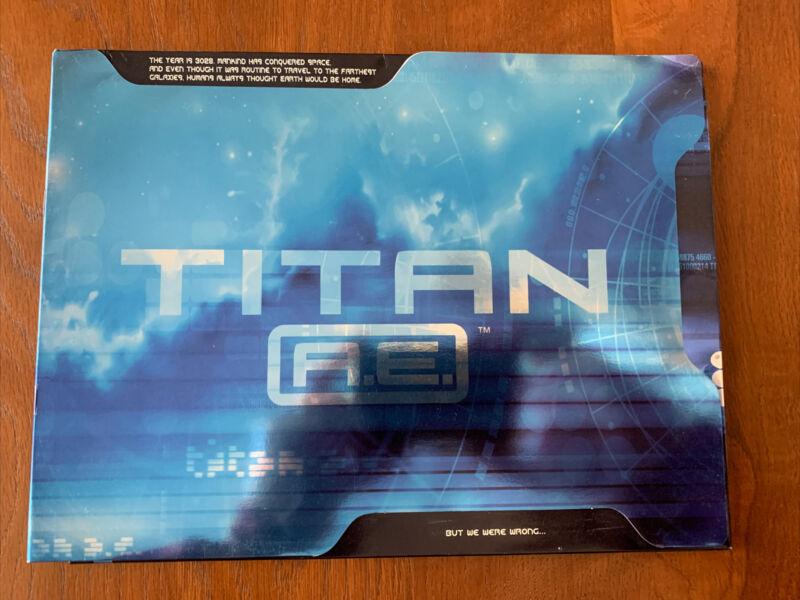 *  TITAN A.E. animated cartoon-2000-MOVIE media Press kit-8x10 photos,Bios,cast
