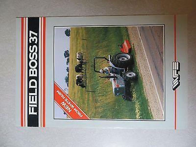 White Field Boss 37 Sales Brochure