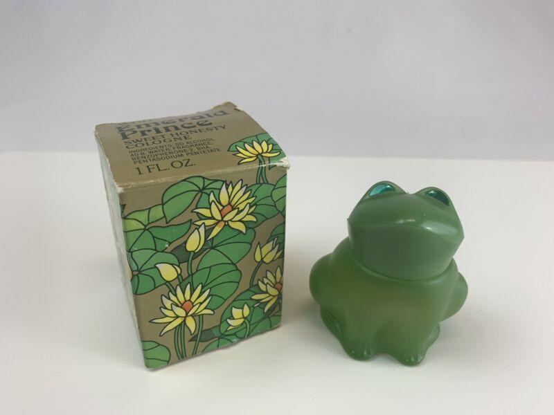 Vintage Avon Emerald Prince Sweet Honesty Cologne Bottle 1 fl oz Frog NIB NOS