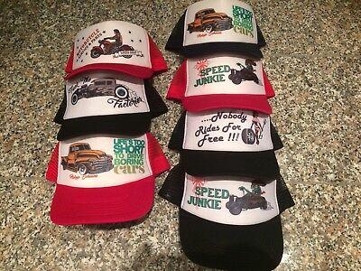 Weiß Mesh Cap (Mesh Cap Trucker Rot Weiss Hot Rod Rockabilly Pickup Neu & Ovp!!)