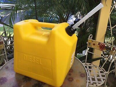 Vintage Plastic Blitz Plastic 5 Gallon Diesel Gas Can Vented Style Fuel Jug New