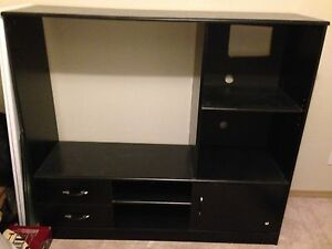 Black entertainment stand