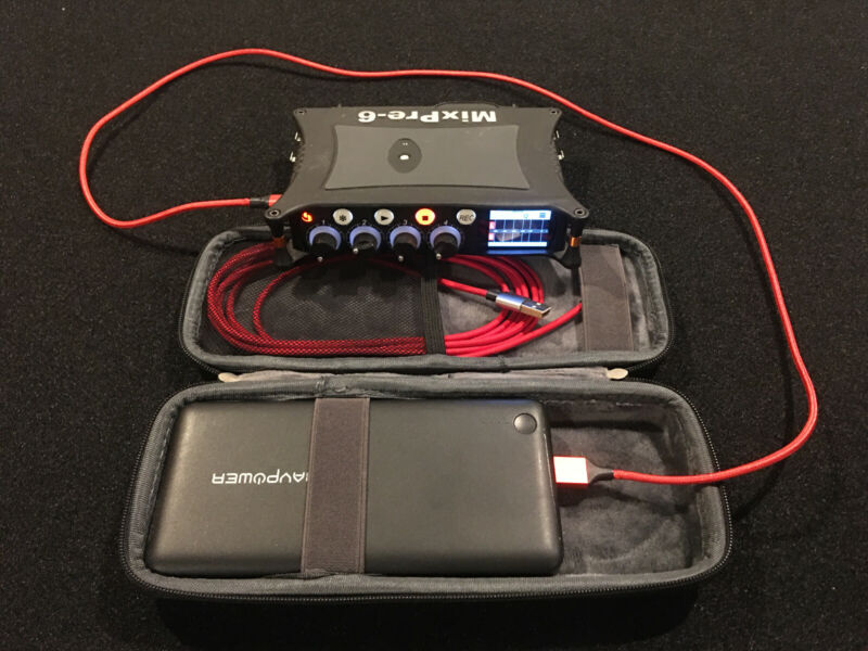 Sound Devices MixPre-6 Recorder w/Ravpower 26800mah Battery