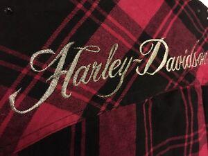 Ladies Harley Davidson Plaid Size Medium
