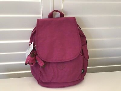 Nwt Kipling City Pack Very Berry Nykon Backpack
