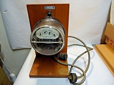 Vintage Sangamo Type H Watt Hour Electric Meter Tested Working For Teaching