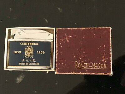 VINTAGE BRAND NEW FLAT ADVERTISING POCKET LIGHTER ROSEN NESOR - VERY RARE