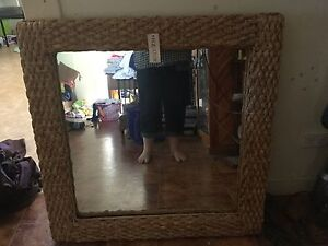 Large cane framed mirror Inverell Inverell Area Preview