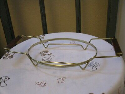 Vintage Wire Metal Casserole Holder Mid Century Pyrex Fire King 10 Inch Oval
