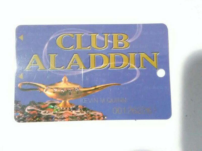 ALADDIN CASINO LAS VEGAS, NEVADA LAMP LOGO SLOT CARD GREAT FOR OLD COLLECTION!