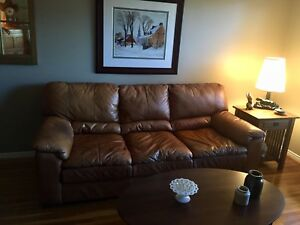 High end top grain leather couch