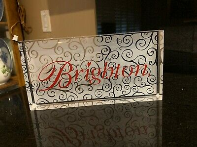 Htf Large Brighton Purse Jewelry Store Display Counter Lucite Rectangle Sign