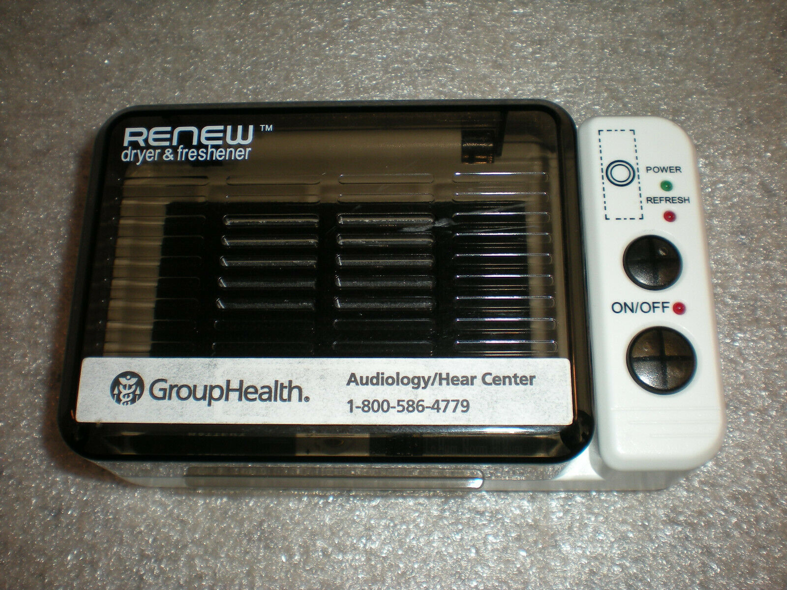 Serene Renew Innovations DB-100 Hearing Aid Dryer and Freshener ONLY NO ADAPTER