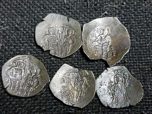 Lot of 5 nice Palaeologus. AE Trachy