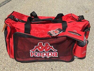Vintage NWT Deadstock Kappa Red Duffel Gym Bag 24 x 14 x 13 + Water Bottle