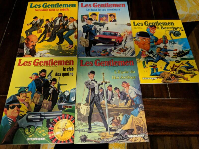 Lot of 5 Books from Les Gentlemen - French Comics by Castelli & Tacconi - EDI-3