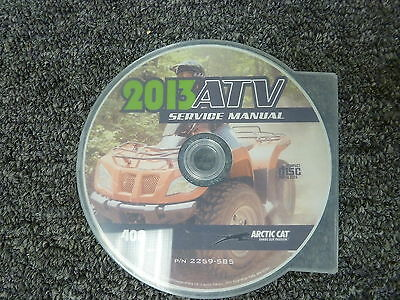 2013 Arctic Cat Model 400 4x4 ATV Shop Service Repair Manual CD P/N 2259-585