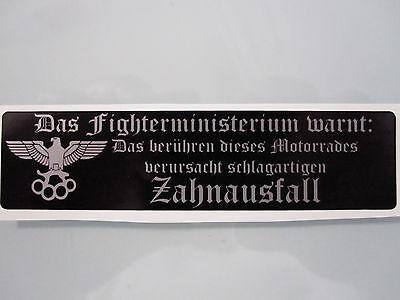 "Streetfighter Aufkleber "" Zahnausfall"" schwarz"