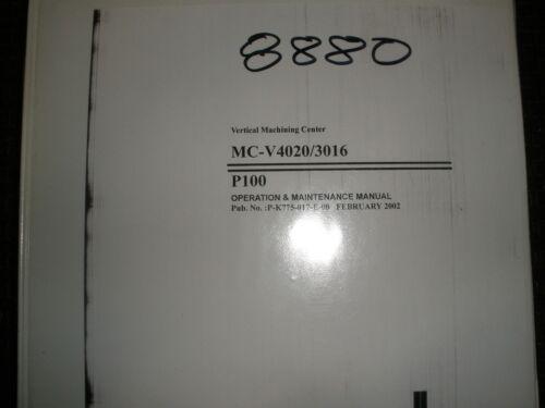 Okuma CNC MC-V4020/3016 Operation & Maintenance Manual