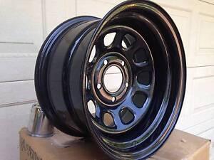 Chev C10 Pickup 15x8 Steel Wheels NEW Black powder coat PCD 5x5 Terrigal Gosford Area Preview