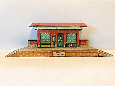 🚉 Vintage Tin BRIMTOY O Gauge STATION TICKET OFFICE on Wayside Platform SIGNAGE