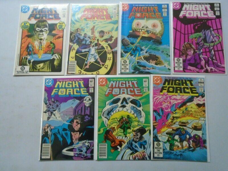 Night Force set #1-14 6.0 FN (1982 1st Series)