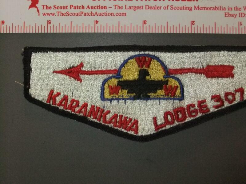 Boy Scout OA 307 Karankawa first solid flap 9742II
