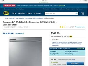 Samsung DW80M2020US Dishwasher For Sale