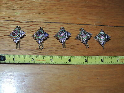 Lot of 5 British Order of the Bath Buttons Pins Tria Juncta In Uno