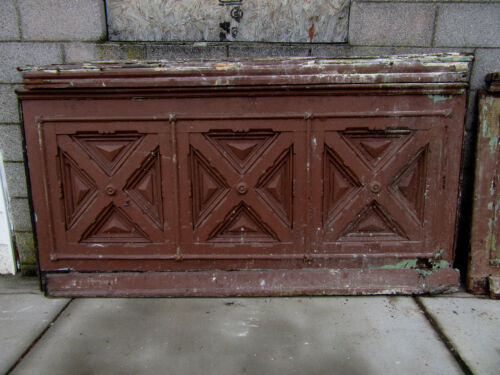 ~ 4 PIECES 28 FEET ORNATE ANTIQUE WALNUT PANELING WAINSCOTING ~ SALVAGE ~