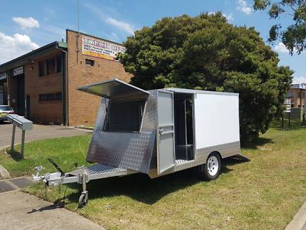 New Glossy White Enclosed Trailer Ingleburn Campbelltown Area Preview