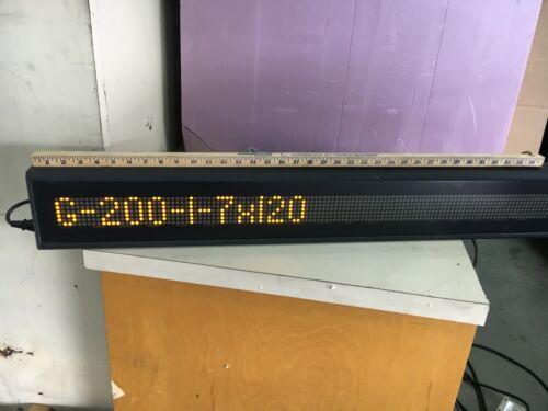 """Daktronics Galaxy 7x120 LED Display (0A-1165-0016) 38.5"""" x 5.5"""" OD"""