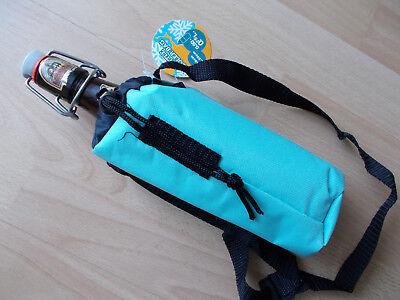 Kühltasche für Bierflasche, Kühlbeutel 0,5l, Größe 8cm x 20cm, Türkis ()