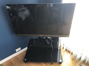 Sony TV 40 inch, with stand and DVD/Blue Ray player.
