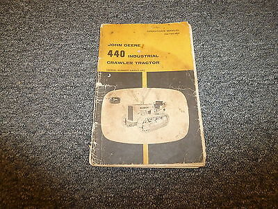 John Deere 440 Industrial Crawler Tractor Dozer Operator User Guide Manual