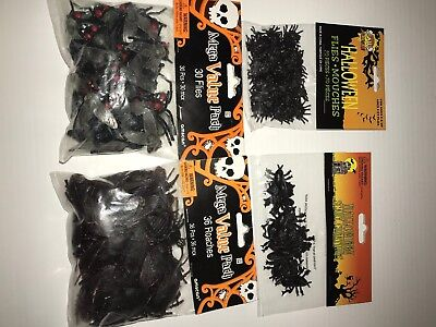 Halloween Lot Fake Bugs Roaches and Flies 4 Piece Set - Halloween Fake Bugs