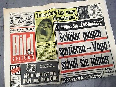Bildzeitung 23. März 1964 BILD Zeitung 23.03.1964 * 54. 56. 57. 58. Geburtstag